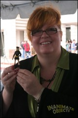 Comics scribe extraordinaire Gail Simone takes possession of her Casimir-crafted Lady Blackhawk!