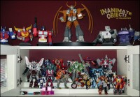 Transformer statues and more Autobots.