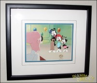 Animaniacs cel, signed by Rob Paulsen, Jess Harnell, and Tress MacNeille. This was a gift from Kevin Clash, the original Elmo.