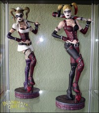 Arkham Asylum and City Harley Quinn (sculpted by SKBstudios).
