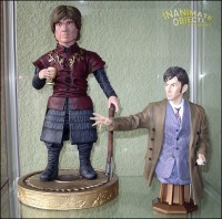 Tyrion and Dr. Who. (Tyrion sculpted by SKBstudios.)