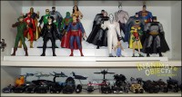 Final Frontier, Dark Knight Returns, and Mattel 1/50th Batmobiles.