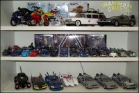 1/48 Corgi Batmobiles, and 1/24th batmobiles. the Mach 5, and Time Machines.
