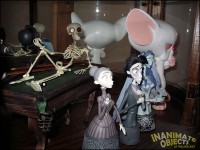 Brain contemplates his life awy from Pinky, trapped in this case with Corpse Bride characters.