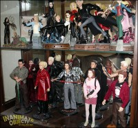 "Animated Buffy statues, and 12"" Buffy figures."